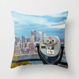 View Of Pittsburgh, Pennsylvania Throw Pillow