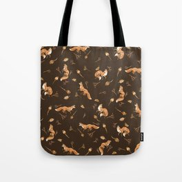 Foxes pattern Tote Bag