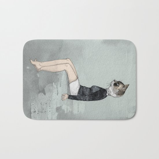 Cat Woman Bath Mat