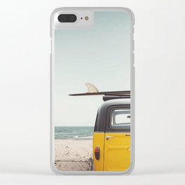 Surfing time Clear iPhone Case