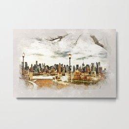 New York City - mixed media Metal Print