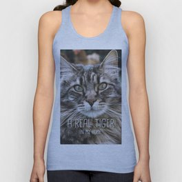 Cat - A real tiger in my home Unisex Tank Top