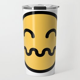 Smiley Face   Distressed Face Travel Mug