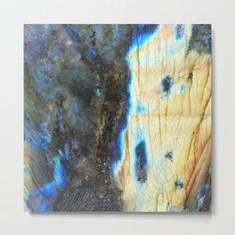 Labradorite Crystal Metal Print