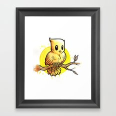Stop Overthinking This Gosh Darn Crap and Just Draw a Bird! Framed Art Print