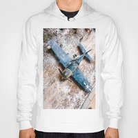 airplane Hoodies featuring Airplane by Mauricio Santana