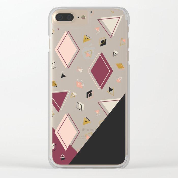 Rhombus Mix #society6 #decor #buyart Clear iPhone Case