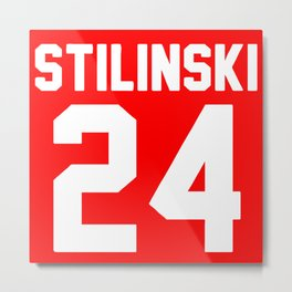 Stilinski Jersey Metal Print