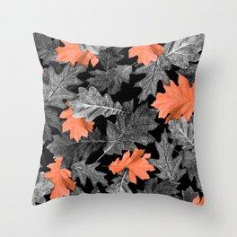 Fall Leaves - Orange Throw Pillow