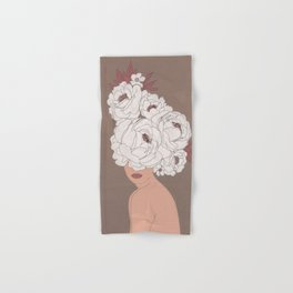 Woman with Peonies Hand & Bath Towel