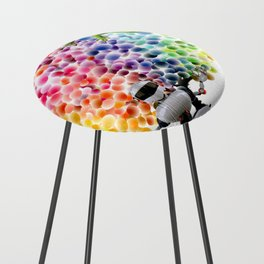 Candy Buttons Counter Stool