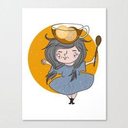 English Breakfast Tea Witch Canvas Print
