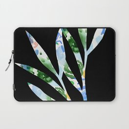 January leaves -watercolour on black background Laptop Sleeve