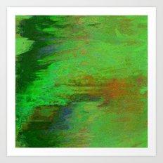 07-030-14 (City Reflection Glitch) Art Print