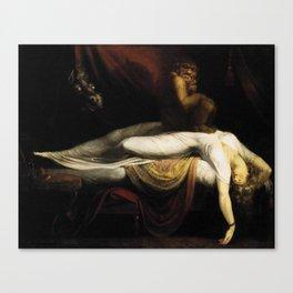 Henry Fuseli The Nightmare Canvas Print