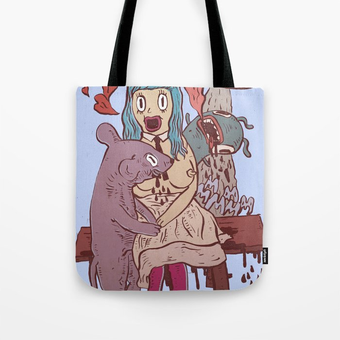 Let's get friendly, stranger Tote Bag