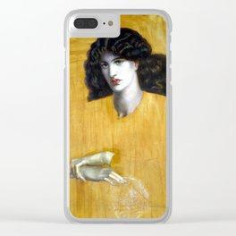 Dante Gabriel Rossetti La Donna Della Finestra (The Lady of Pity) Clear iPhone Case