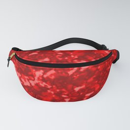 A chaotic cluster of red bodies on a light background. Fanny Pack