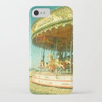 carousel iPhone & iPod Cases featuring Carousel by Cassia Beck