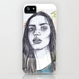 Mixed Media Sketch iPhone Case