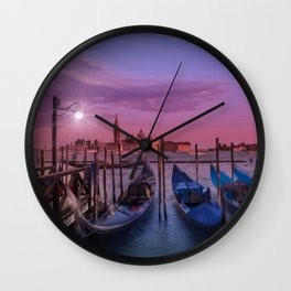 VENICE Gorgeous Sunset Wall Clock