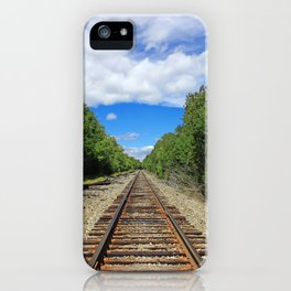 Beautiful Day Train Tracks iPhone Case