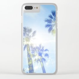 Faded Palms Clear iPhone Case