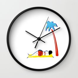 Camp Girl Wall Clock