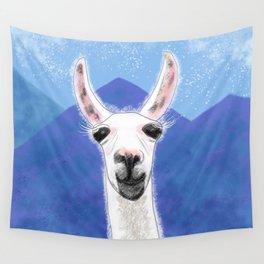Llama Yama Smiling Wall Tapestry
