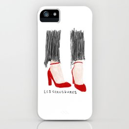 Les Chaussures iPhone Case