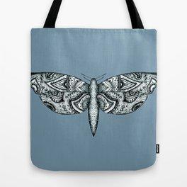Patterned Moth  Tote Bag