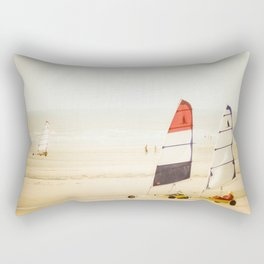 Sand yachting trio Rectangular Pillow