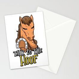 Talk To The Hoof   Funny Horse Saying Gift Stationery Cards