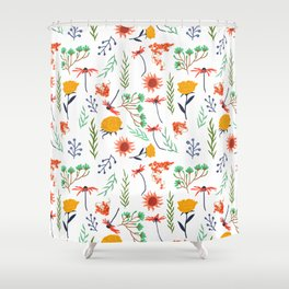 Rustica #illustration #pattern Shower Curtain