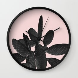 Black Blush Cactus #2 #plant #decor #art #society6 Wall Clock