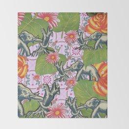 Elephant Jungle Throw Blanket