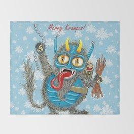 Merry Krampus! Throw Blanket