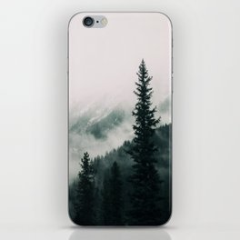 Over the Mountains and trough the Woods - Forest Landscape Photography iPhone Skin