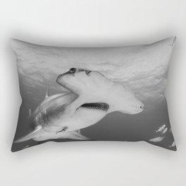Greatness in Black & White Rectangular Pillow