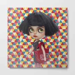 Amelia Blythe Doll by Erregiro Metal Print