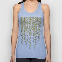 golden string of pearls watercolor 2 Unisex Tank Top