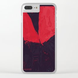 Neon Butterfly stg 01 Clear iPhone Case