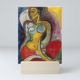 Seated Nude Mini Art Print