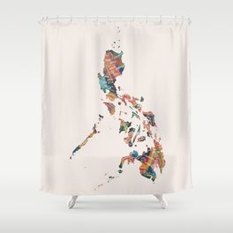 Map of the Philippines / 81 provinces Shower Curtain