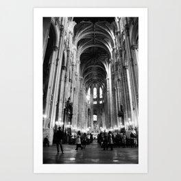 The Church of St Eustache, Paris Art Print
