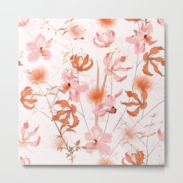 pink and orange orchids Metal Print