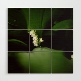 Dramatic Lilly of the Valley Wood Wall Art