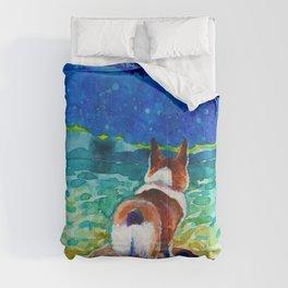 Corgi - sea admirer Comforters