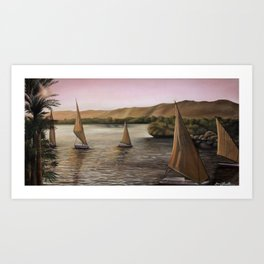 'Peaceful Sailing' Art Print