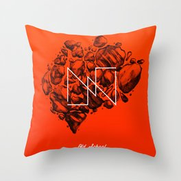 Old School Rocks (Orange Rock Version) Throw Pillow